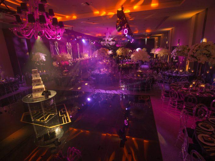 dance floor and dj booth